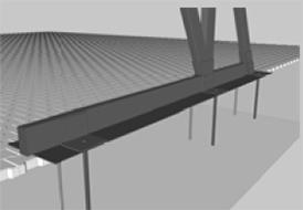 Aufstellung auf bestehender gefestigter Fahrfläche, ohne Eingriffe in bestehende gefestigte Oberflächen.